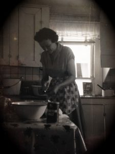 Lois Marie Thomason / My Grandmother in her Wagner, Texas kitchen